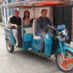 Our taxi girlfriend and us in the taxi bike thingy